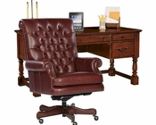Hekman Office Set w/ Weathered Cherry Table HE-79278-SET