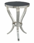 Hekman Polished Metal End Table w/ Stone Top HE-27508