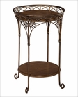 Hekman Round Iron Chairside Table HE-23209