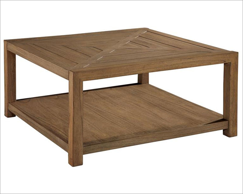 Hekman Square Coffee Table w/Casters Weathered Transitions HE-951402WT