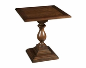 Hekman Square Pedestal End Table Vintage European by Hekman HE-23207