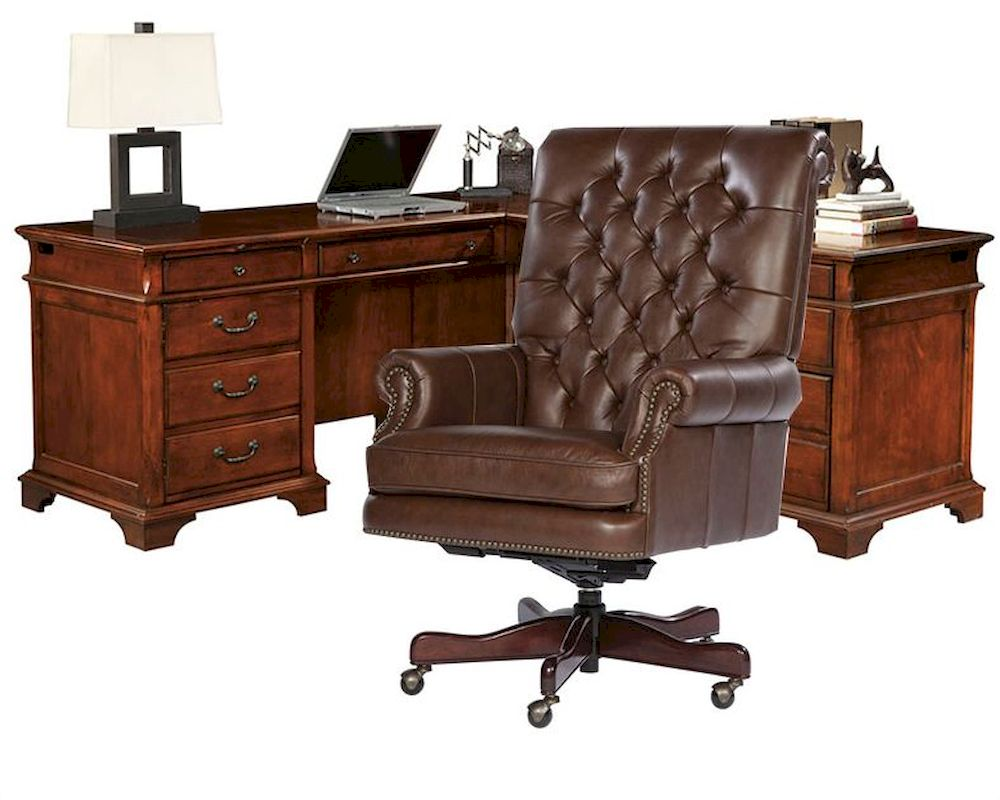hekman weathered cherry office set he 79277 set