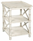 Hekman White End Table HE-24019