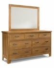 Heritage Brands Furniture Dresser & Mirror Grand Lodge HB7407-7491