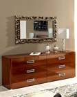 High Gloss Dresser and Mirror in Modern Style 33B144