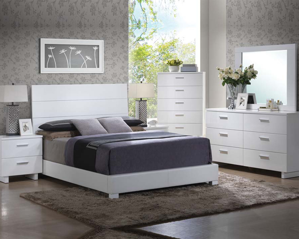 high gloss white bedroom set lorimar by acme furniture ac22630set