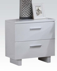 High Gloss White Nightstand Lorimar by Acme Furniture AC22633