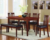 Homelegance 6-Piece Pack Dinette Set EL-2513-SET