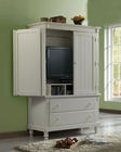Homelegance Armoire in White Sand Pottery EL875W-7