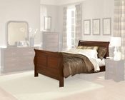 Homelegance Bed in Warm Cherry Chateau Brown EL549K-1CK