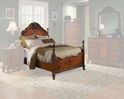 Homelegance Bed in Warm Cherry Madaleine EL1385KBED