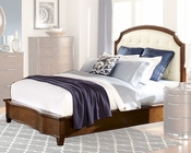 Homelegance Bed w/ Bonded Leather Headboard Zelda EL2238BED
