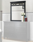 Homelegance Bedroom Mirror Sanibel in Black EL2119BK-6