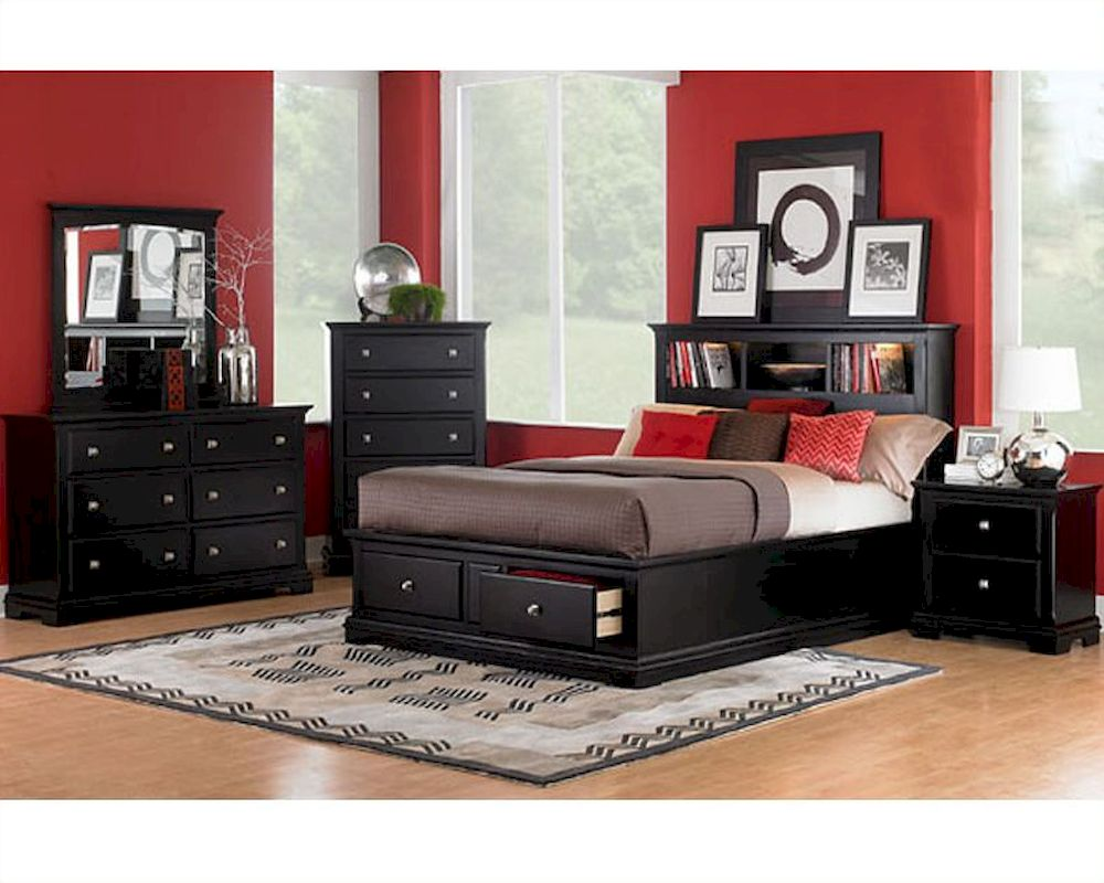 . Homelegance Bedroom Set in Black Preston EL814BK 1SET