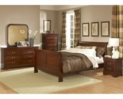 Homelegance Bedroom Set in Warm Cherry Chateau Brown EL549-1SET