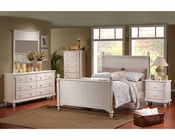 Homelegance Bedroom Set in White Sand Pottery EL875WSET