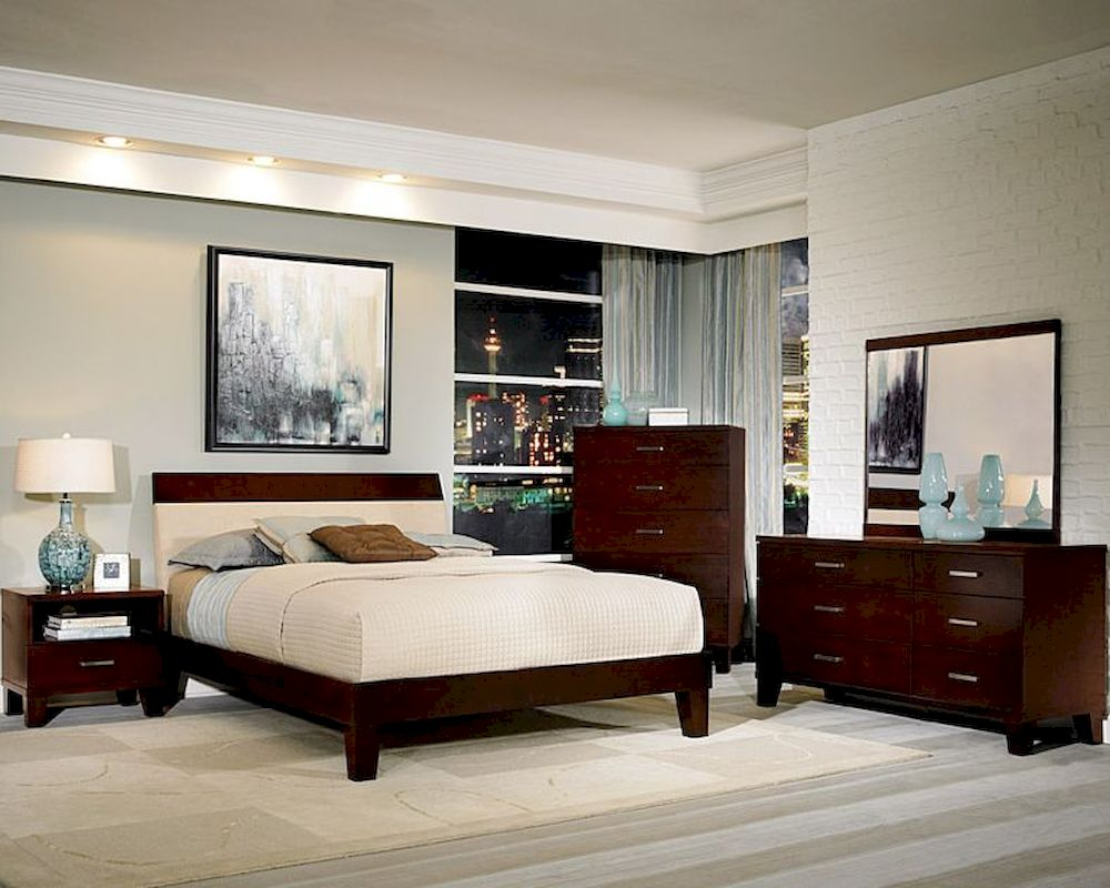 homelegance bedroom set w low profile bed claran el2219set