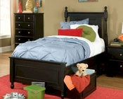 Homelegance Captain's Bed with Toy Box Morelle EL-1356FPRBK-1TBED
