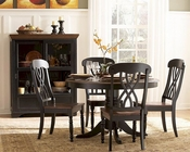 Homelegance Dining Room Set Ohana in 2-Tone Finish EL1393BK-48SET