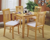 Homelegance Dining Set Liz in Natural Finish EL-763SET