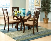 Homelegance Dining Set with Round Table Stardust EL-5312SET