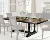 Homelegance Dining Table w/ Two End Leaves Grisoni EL-2609-96