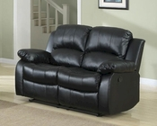 Homelegance Double Reclining Loveseat Cranley in Black EL-9700BLK-2