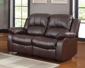 Homelegance Double Reclining Loveseat Cranley in Brown EL-9700BRW-2