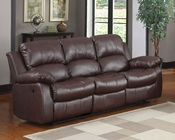 Homelegance Double Reclining Sofa Cranley in Brown Finish EL-9700BRW-3
