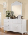 Homelegance Dresser and Mirror Emmaline EL2019W-56
