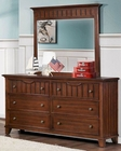 Homelegance Dresser and Mirror in Cherry Alyssa EL-2136C-6
