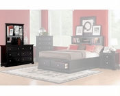 Homelegance Dresser with Mirror in Black Preston EL814BK-5SET
