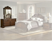 Homelegance Dresser with Mirror in Brown Cherry Legacy EL866NC-5SET