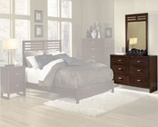 Homelegance Dresser with Mirror in Cherry Paula EL1348-5SET