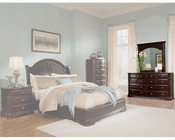 Homelegance Dresser with Mirror in Deep Merlot Grandover EL858-5SET