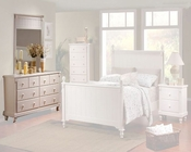 Homelegance Dresser with Mirror in White Sand Pottery EL875W-5SET