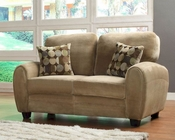 Homelegance Loveseat Rubin in Light Brown Finish EL-9734BR-2
