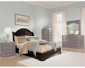 Homelegance Low Profile Bed in Deep Merlot Grandover EL858LPKBED