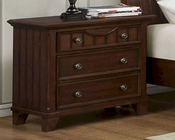 Homelegance Nightstand in Cherry Alyssa EL-2136C-4