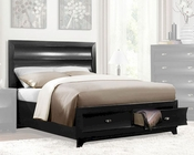 Homelegance Platform Bed Zandra in Pearl Black Finish EL2262BKBED