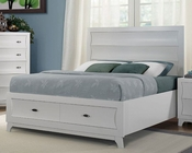 Homelegance Platform Bed Zandra in Pearl White Finish EL2262WBED