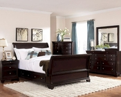 Homelegance Storage Bedroom Set Inglewood in Deep Cherry EL1402SSET