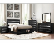Homelegance Storage Bedroom Set Zandra in Pearl Black EL2262BKSET