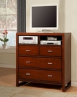 Homelegance TV Chest in Cherry Paula EL1348-11
