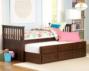 Homelegance Twin Over Twin Trundle Bed Zachary EL571PE-1