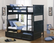 Homelegance Twin/Twin Bunk Bed in Black Sanibel EL-B2119BK-1