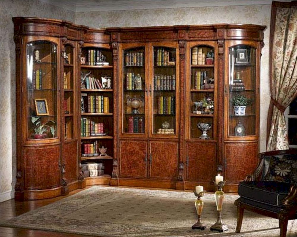 Infinity Furniture Library Wall Unit Louis Xvi Inlv Set3