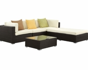 Innovate Patio Sofa Set in Espresso White by Modway MY-EEI973EW