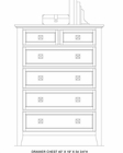 Intercon 6 Drawer Chest Alta IN-AL-BR-5306-BAS-C