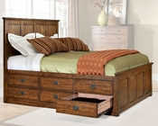 Intercon 6 Drawer Storage Bed Oak Park IN-OP-BR-5850-6BED